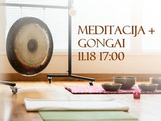 Vakaro meditacija + Gongai (lapkričio 18 d.)