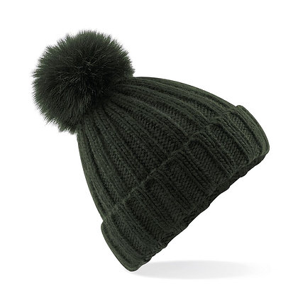 Olive Bobble Hat