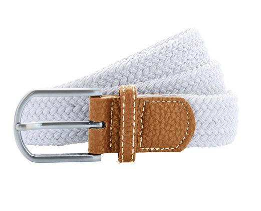 White Woven Belt