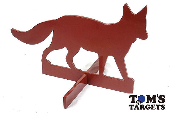 Fox with Stand Toms Targets Hardox 500 Target Life Size
