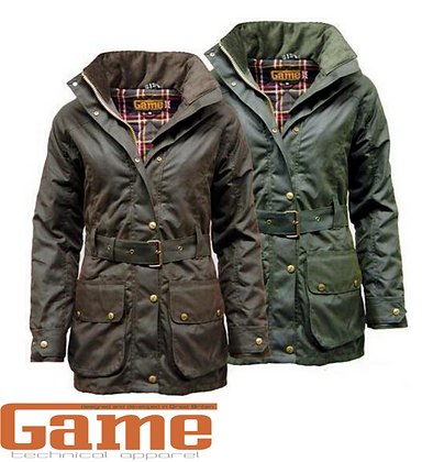 Ladies Cantrell Padded Wax Jacket Coat