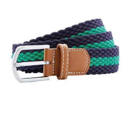 Navy & Lime Woven Belt
