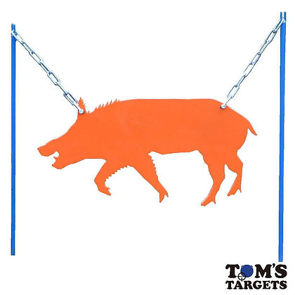 Wild Boar Hanging Target With Stand Toms Targets Hardox 500 Target