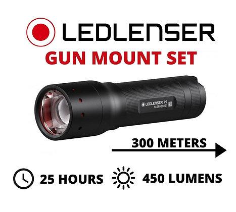 LED Lenser P7 Tactical Scope Mounted Gun / Rifle Lamp Torch