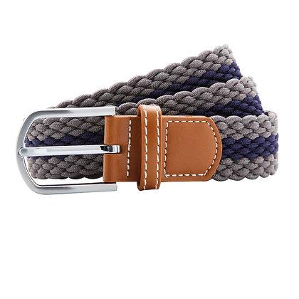 Grey & Navy Woven Belt