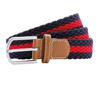 Navy & Cherry Woven Belt