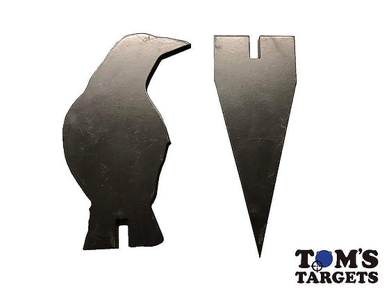 Crow Target With Stand Toms Targets Hardox 500 Target
