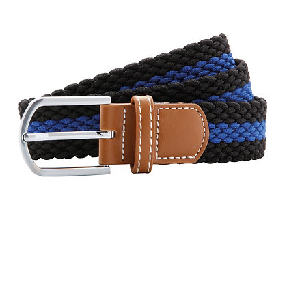 Black & Royal Woven Belt