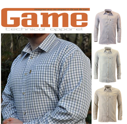 Mens Game Tattersall Country Casual Long Sleeve Collared Check Shirt