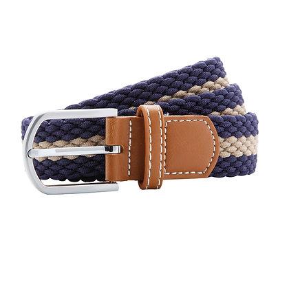 Navy & Tan Woven Belt