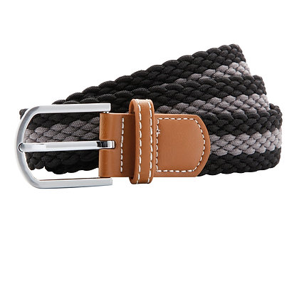 Black & Grey Woven Belt