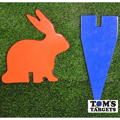 Rabbit with stand Toms Targets Hardox 500 Target