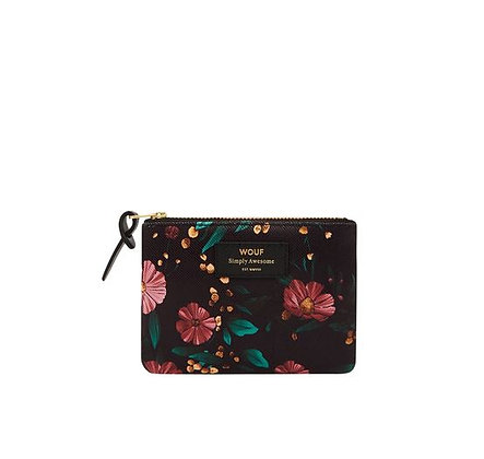 WOUF - Trousse Small - Black Flowers