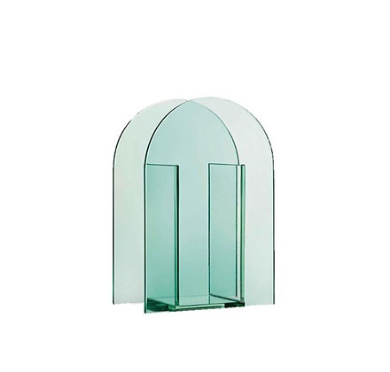 &Klevering - Vase Arc - Vert Transparent