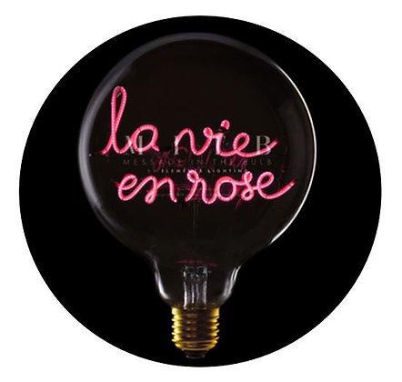 MITB - Ampoule message - La Vie en Rose - Transparent - Texte rouge