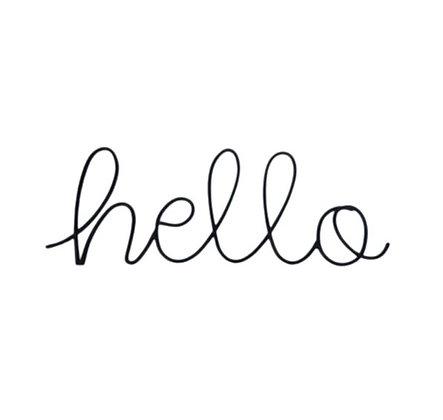 Mot à poser ou accrocher - Hello