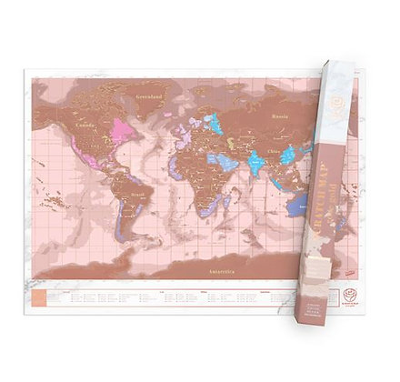 Luckies - Carte À Gratter Rose Dorée – Scratch Map™ Rose Gold Edition