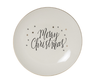 Bloomingville - Assiette Ronde PM - Merry Christmas