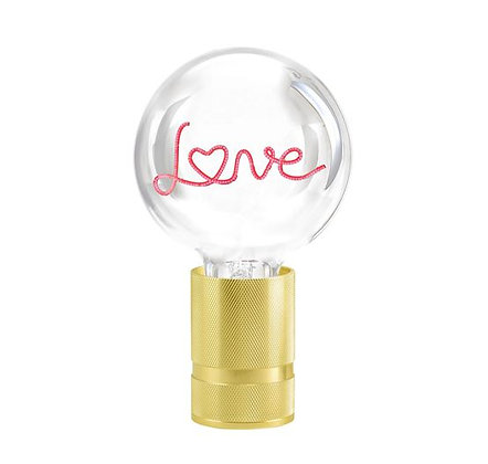 MITB - Lampe message - Love - Transparent - Texte rouge