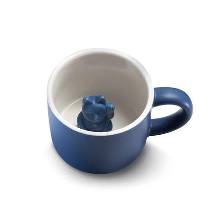 Maneki Neko - Mug - Dark Blue
