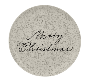 Bloomingville - Assiette Ronde GM - Merry Christmas