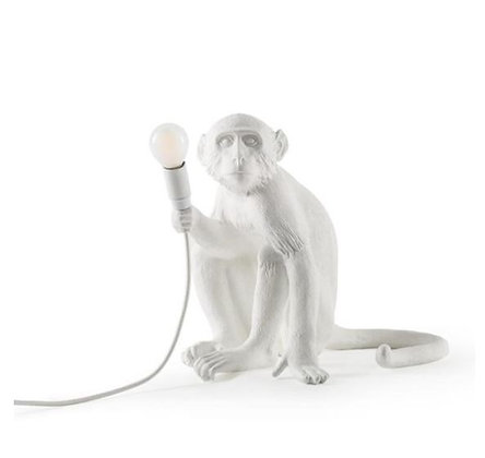 Seletti -  Lampe Monkey - Assis - White
