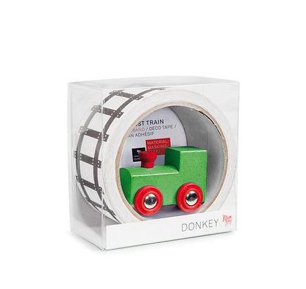 Donkey - Masking Tape Géant - Mon premier train