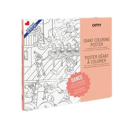 OMY - Poster géant à colorier - Dance