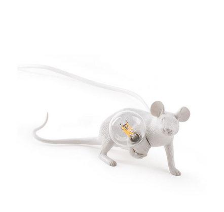 Seletti -  Lampe Mouse - Allongée - White