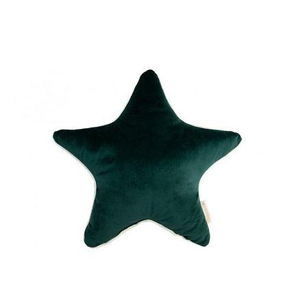 Nobodinoz - Aristote star velvet cushion - Jungle Green