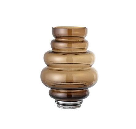 Bloomingville - Vase - Cercle - Marron transparent