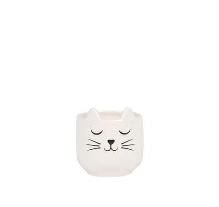 Sass & Belle - Cache-pot - White Cat
