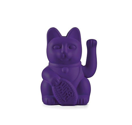 Maneki Neko - Lucky Cat - Violet