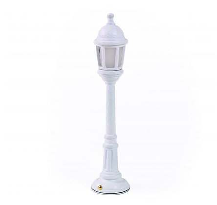Seletti - Lampe rechargeable - Street Lamp Dining - White