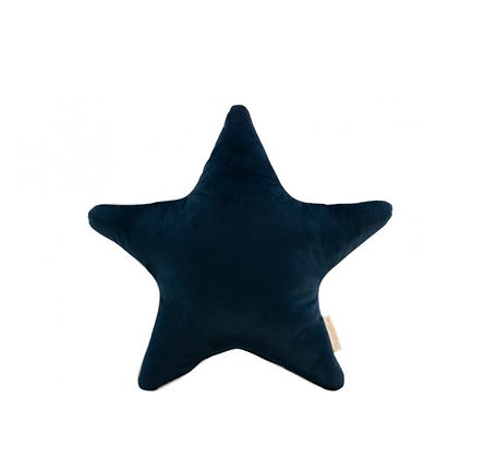 Nobodinoz - Aristote star velvet cushion - Night Blue