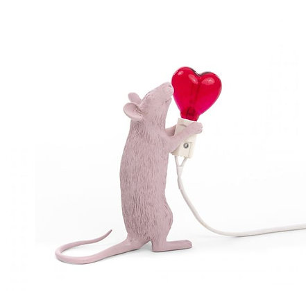 Seletti -  Lampe Mouse - Debout - Amour