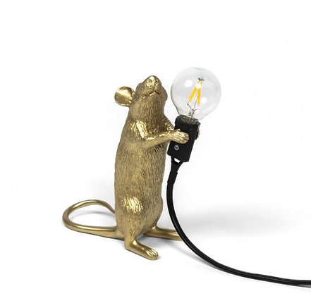 Seletti -  Lampe Mouse - Debout - Gold