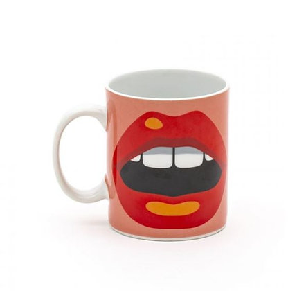 SELETTI - Studio Job - Blow - Mug - Bouche