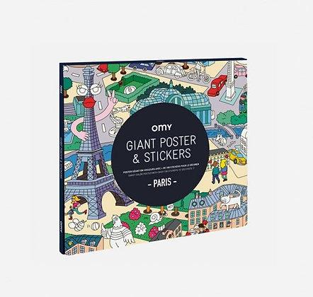 OMY - Poster géant & stickers - Paris