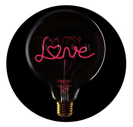 MITB - Ampoule message - Love - Transparent - Texte rouge
