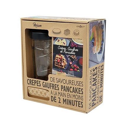Cookut - Set Shaker à crêpes, pancakes, gauffres et tartineur