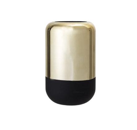 Bloomingville - Vase - Pilule GM - Noir et Or