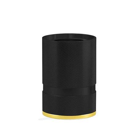 MITB - Socle Lampe de Table - Madison - 110 mm - Noir et Or