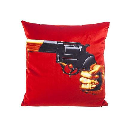 SELETTI - Toiletpaper - Revolver - Coussin - Red