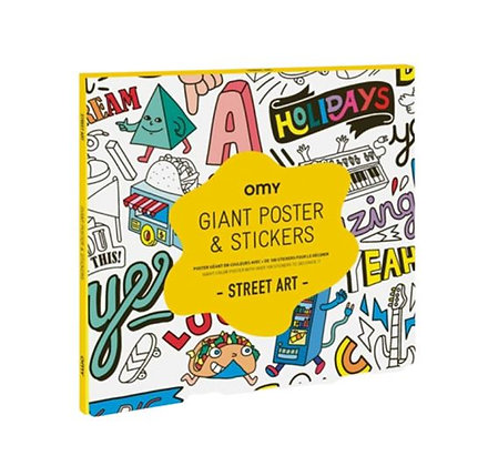 OMY - Poster géant & stickers - Street Art