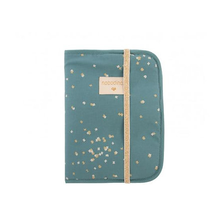 Nobodinoz - Protège-carnet de santé - Gold Confetti Magic Green