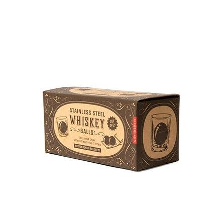 Kikkerland -  Set de 2 boules glaçons pour Whisky