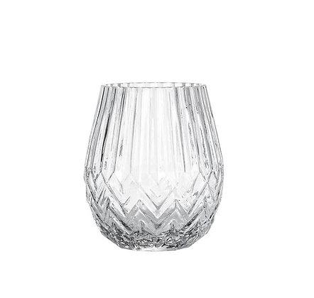 Bloomingville - Vase - Verre Ciselé - Transparent