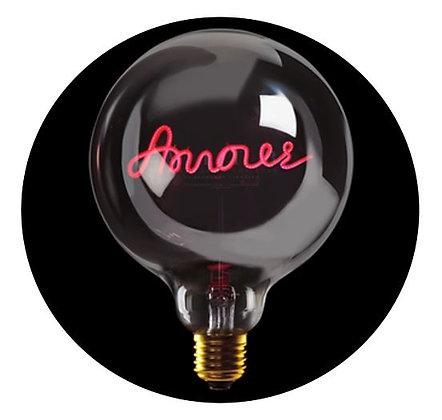 MITB - Ampoule message - Amour - Transparent - Texte rouge