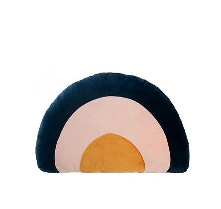 Nobodinoz - Rainbow velvet cushion - Night Blue